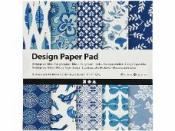 Scrapbookové papiere 15x15 cm - sada 50 ks - blue