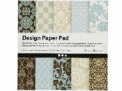 Scrapbookové papiere 15x15 cm - sada 50 ks - brown