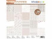Sada scrapbookových papierov - Foil Copper