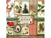 Sada vianočných scrapbookových papierov - Winter Botanic