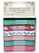 Dekoračné stužky 6 x 1 m - vianočný mix