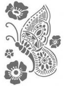 Šablóna 15 x 20cm - motýľ