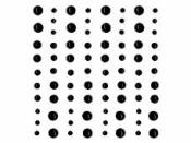 Samolepiace štrasy - 80ks - perly čierne
