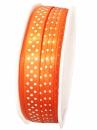 Saténová stuha bodkovaná 10 mm - oranžová