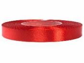 Saténová stuha - 12mm - červená