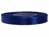 Saténová stuha - 12mm - indigo modrá
