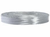 Saténová stuha - 12mm - strieborná