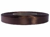 Saténová stuha - 12mm - tmavá hnedá