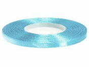 Saténová stuha - 6mm - blankytná modrá