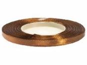 Saténová stuha - 6mm - bronzová