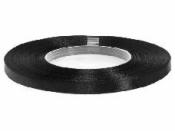 Saténová stuha - 6mm - čierna