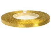 Saténová stuha - 6mm - egyptská zlatá
