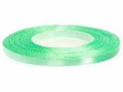 Saténová stuha - 6mm - pistáciová zelená