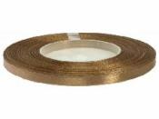 Saténová stuha - 6mm - svetlá hnedá