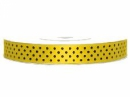 Saténová stuha bodkovaná 12 mm - žltá
