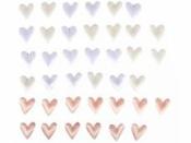 Saténové srdiečka pastelové - 48ks