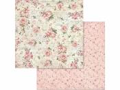 Obojstanný scrapbookový papier - Malé ružičky