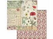 Obojstanný scrapbookový papier - Maky a motýle