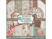 Sada obojstranných scrapbookových papierov - Roses & Laces