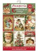 Scrapbookové vianočné pohľadnice - Christmas vintage