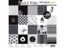 Sada scrapbookových papierov - Black & White