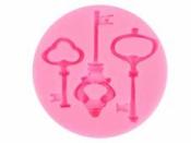 Silikónová odlievacia forma - kľúče