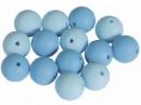 Silikónové korálky 15mm 10ks - svetlé modré