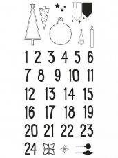 Silikónové pečiatky vianočné - adventné čísla