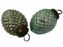 Sklenená vintage vianočná guľa 5 cm - šiška - tyrkysová