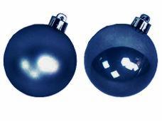 Vianočná sklenená guľa 2,5 cm - kobaltová modrá matná