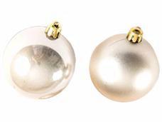 Vianočná sklenená guľa 2,5 cm - šampanská zlatá lesklá
