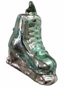 Sklenená vintage závesná ozdoba korčuľa - zelená