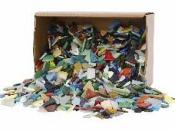 Sklenená mozaika - mix tvarov a farieb - 250g - malé kúsky