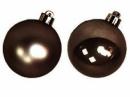 Vianočná sklenená guľa 2,5 cm - hnedá lesklá
