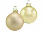 Vianočná sklenená guľa 4 cm - šampanská zlatá matná