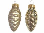 Sklenená vianočná ozdoba šiška 6 cm - svetlá zlatá matná