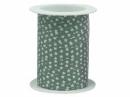 Špirálovacia stužka s hviezdičkami - vintage zelená
