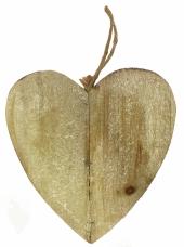 Drevené srdce 25cm - prírodné
