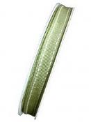 Látková stuha 10 mm so štepovaním - olivová