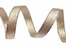 Látková stuha 1 cm - platinová zlatá