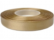 Saténová stuha - 15mm - antická zlatá