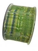 Látková stuha 5 cm patchwork - zelená