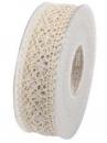 Čipkovaná stuha - čipka 38mm - prírodná biela