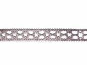 Luxusná látková stuha krojená 15 mm hviezdičky - staroružová