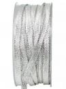 Lurexová metalická stuha 6 mm - strieborná
