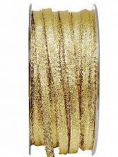 Lurexová metalická stuha 6 mm - zlatá