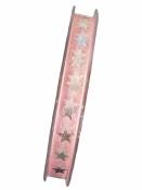 Vianočná organzová stuha 10mm s hviezdičkami - ružová