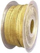 Látková stuha 1 cm - zlatá
