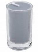 Sviečka 8 hod 5 cm - sivá