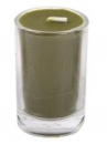 Sviečka 8 hod 5 cm - olivová
